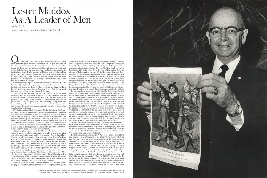 Lester Maddox As A Leader Of Men Rex Reed October 1 1967