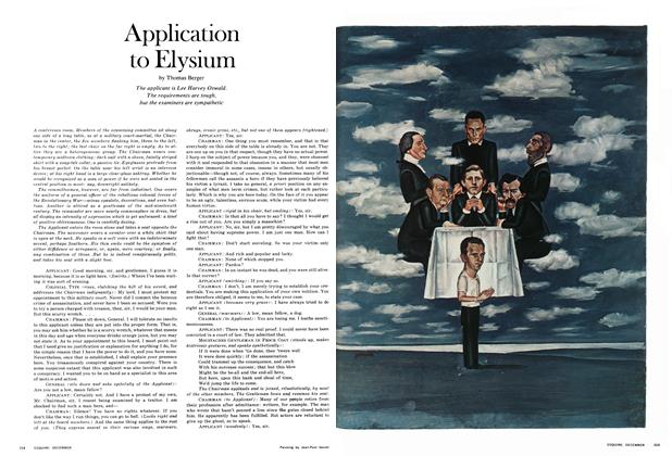Article Preview: Application to Elysium, December 1967 | Esquire