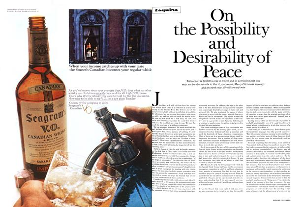 Article Preview: On the Possibility and Desirability of Peace, December 1967 | Esquire