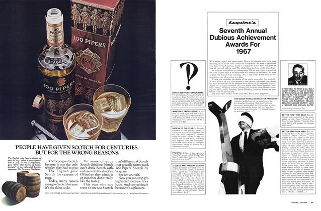 Esquire's Seventh Annual Dubious Achievement Awards for 1967