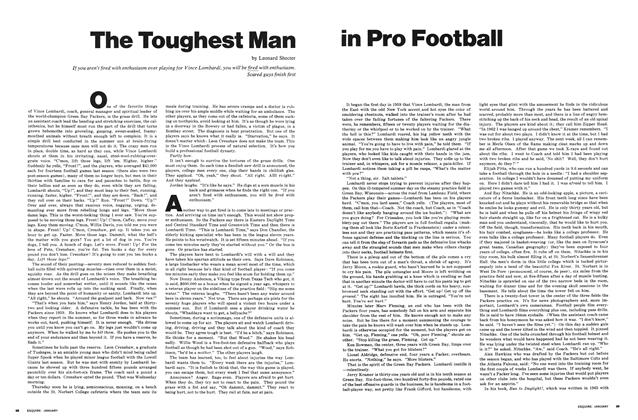 Article Preview: The Toughest Man in Pro Football, JANUARY 1968 1968 | Esquire