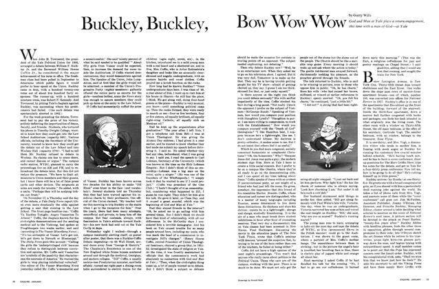 Article Preview: Buckley, Buckley, Bow Wow Wow, JANUARY 1968 1968 | Esquire