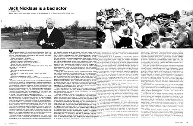 Article Preview: Jack Nicklaus is a Bad Actor, April 1968 | Esquire