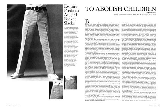 Article Preview: To Abolish Children, April 1968 | Esquire