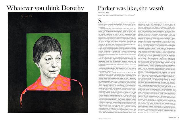 Article Preview: Whatever You Think Dorothy Parker Was Like, She Wasn't, July 1968 | Esquire
