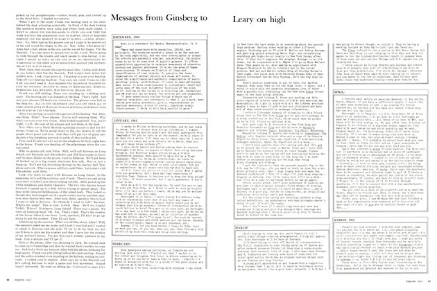 Messages from Ginsberg to Leary on High