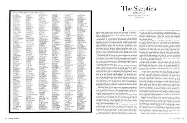 Article Preview: The Skeptics, NOVEMBER 1968 1968 | Esquire