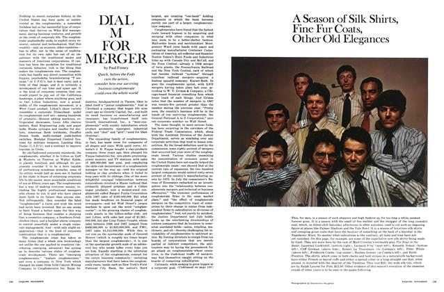 Article Preview: Dial M for Merger, November 1968 | Esquire