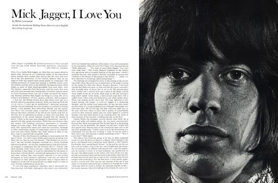 Mick Jagger, I Love You