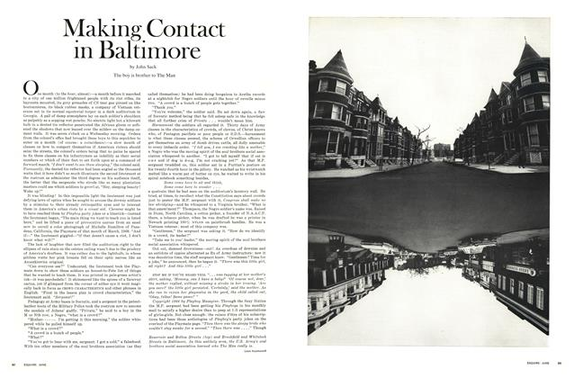 Article Preview: Making Contact in Baltimore, June 1969 | Esquire