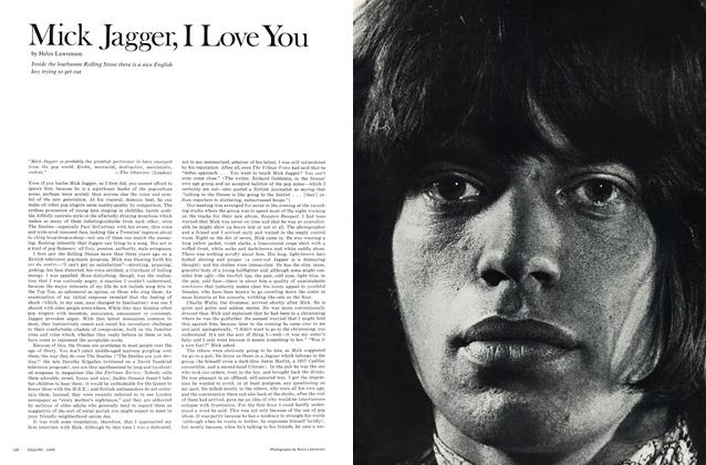 Mick Jagger, I Love You