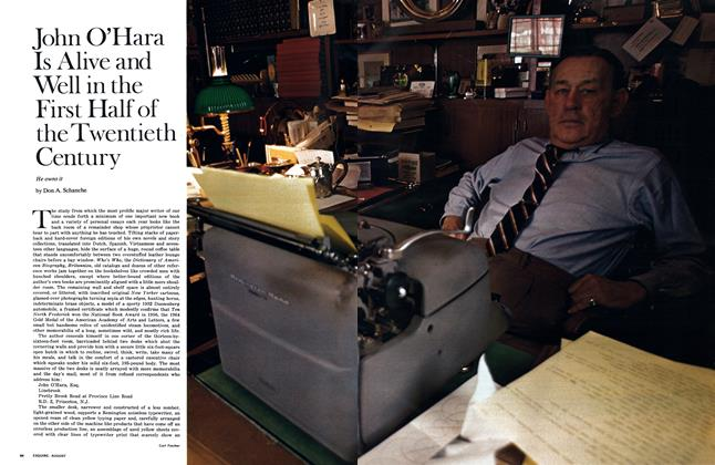 Article Preview: John O'Hara Is Alive and Well in the First Half of the Twentieth Century, AUGUST 1969 1969 | Esquire