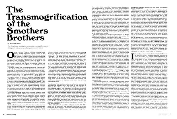 Article Preview: The Transmogrification of the Smothers Brothers, October 1969 | Esquire