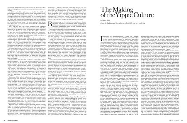 Article Preview: The Making of the Yippie Culture, NOVEMBER 1969 1969 | Esquire