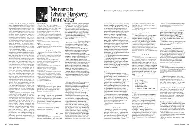 "Article Preview: ""My Name Is Lorraine Hansberry. I Am a Writer"", November 1969 