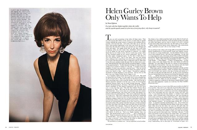 Article Preview: Helen Gurley Brown Only Wants to Help, FEBRUARY 1970 1970 | Esquire