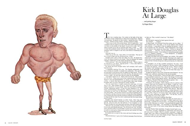 Article Preview: Kirk Douglas at Large, FEBRUARY 1970 1970 | Esquire