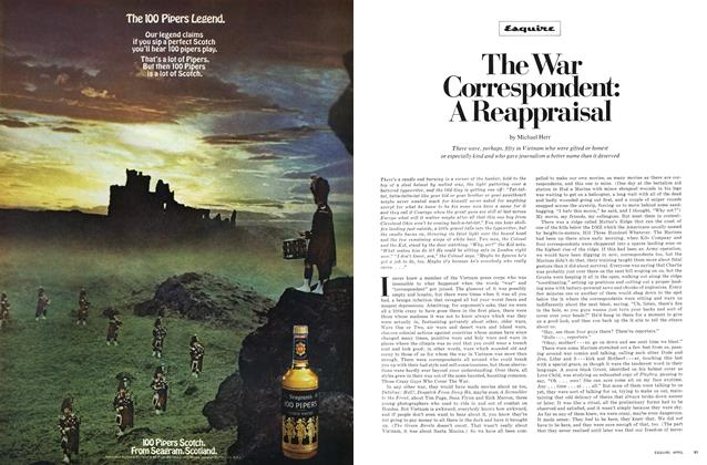 Article Preview: The War Correspondent: A Reappraisal, April 1970 | Esquire