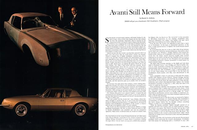 Article Preview: Avanti Still Means Forward, April 1970 | Esquire