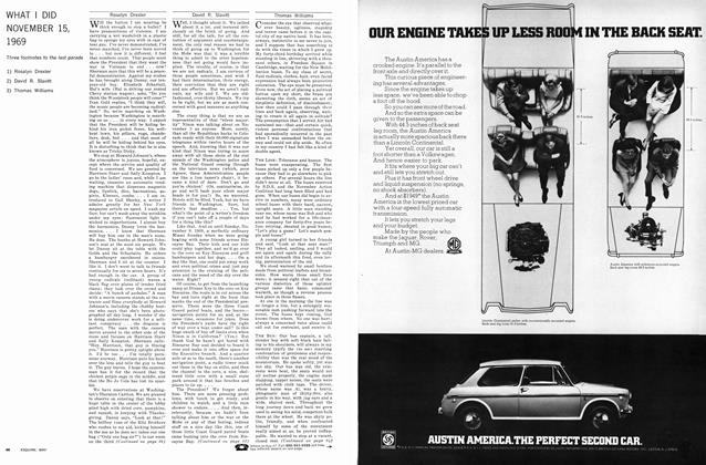Article Preview: What I Did November 15,1969, MAY 1970 1970 | Esquire