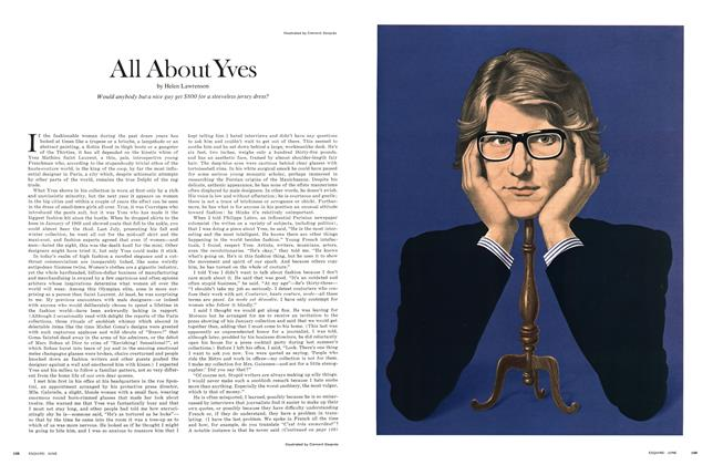 Article Preview: All About Yves, June 1970 | Esquire