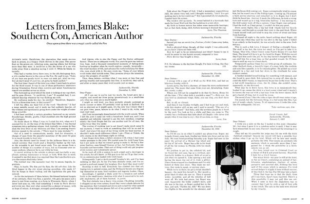 Article Preview: Letters from James Blake: Southern Con, American Author, AUGUST 1970 1970 | Esquire