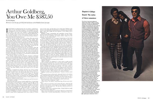 Arthur Goldberg, You Owe Me $587.50