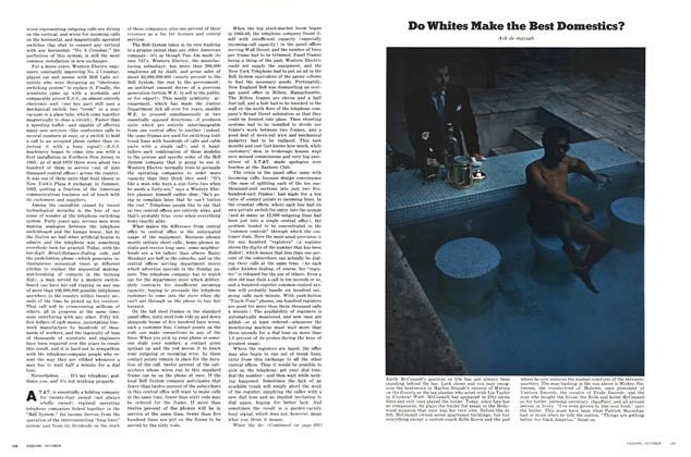 Article Preview: Do Whites Make the Best Domestics?, OCTOBER 1970 1970 | Esquire
