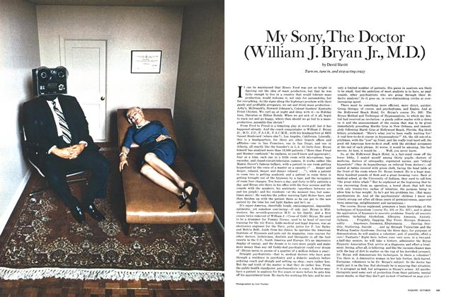 Article Preview: My Sony, the Doctor (William J. Bryan Jr., M.D.), OCTOBER 1970 1970 | Esquire