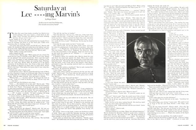 Article Preview: Saturday at Lee----ing Marvin's, NOVEMBER 1970 1970 | Esquire