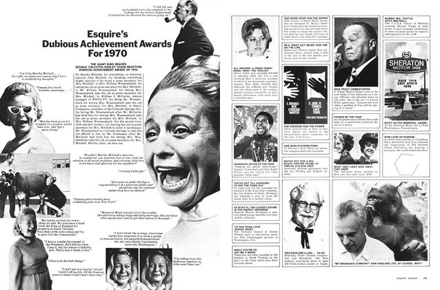 Article Preview: Esquire's Dubious Achievement Awards for 1970, JANUARY 1971 1971 | Esquire