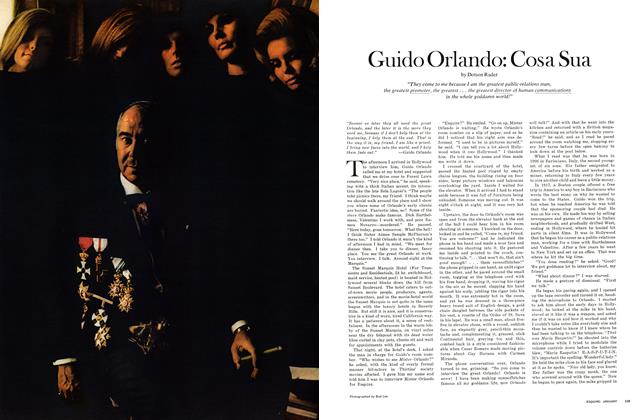 Article Preview: Guido Orlando: Cosa Sua, January 1971 | Esquire