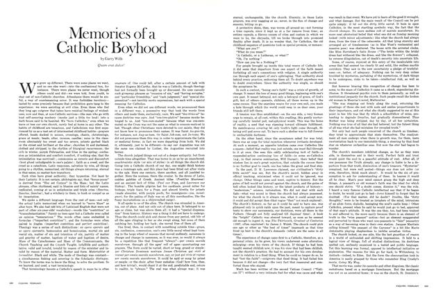 Article Preview: Memories of a Catholic Boyhood, FEBRUARY 1971 1971 | Esquire