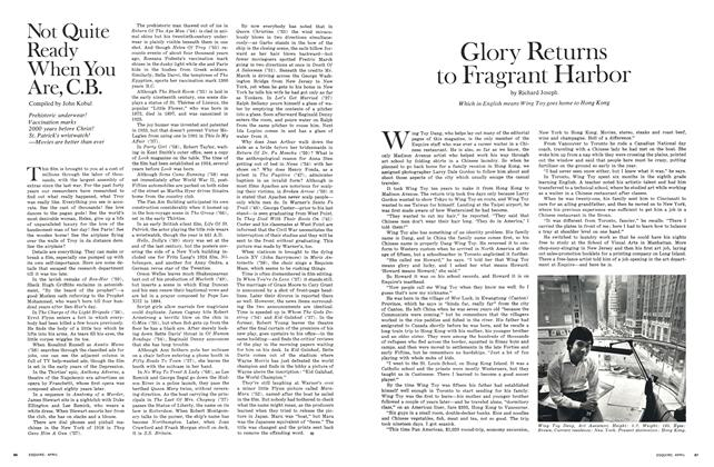 Article Preview: Glory Returns to Fragrant Harbor, April 1971 | Esquire