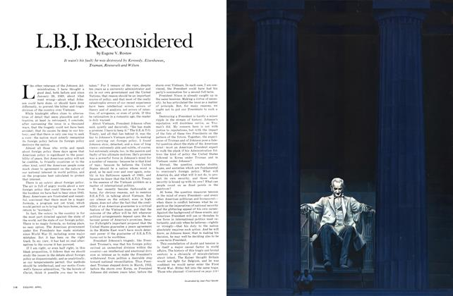 Article Preview: L.B.J. Reconsidered, APRIL 1971 1971 | Esquire