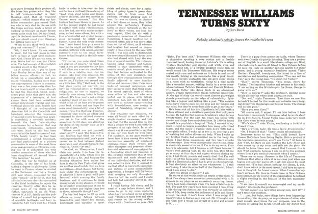 Article Preview: Tennessee Williams Turns Sixty, SEPTEMBER 1971 1971 | Esquire