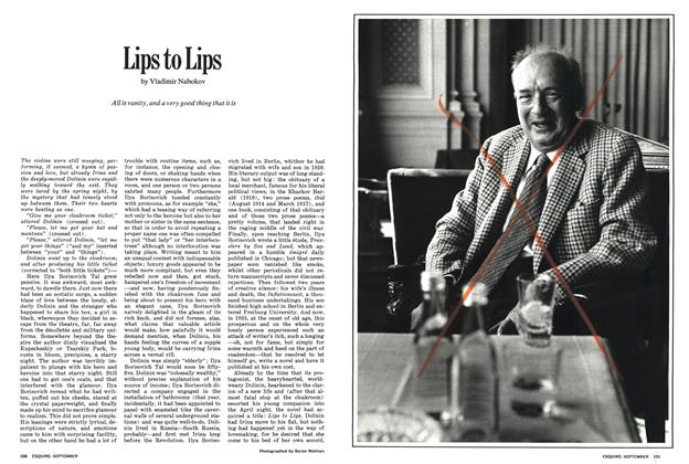 Article Preview: Lips to Lips, SEPTEMBER 1971 1971 | Esquire