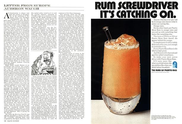 Article Preview: Letter From Europe, NOVEMBER 1971 1971 | Esquire