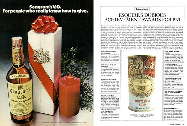 Article Preview: Esquire's Dubious Achievement Awards for 1971, January 1972 | Esquire
