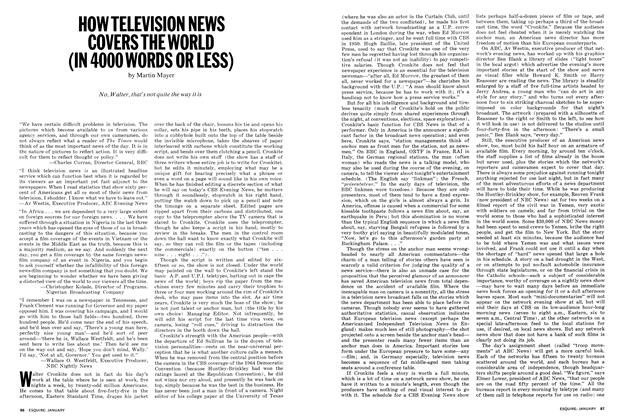 How Television News Covers the World (in 4000 Words or Less)