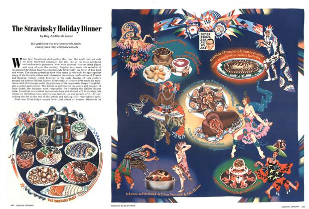 The Stravinsky Holiday Dinner
