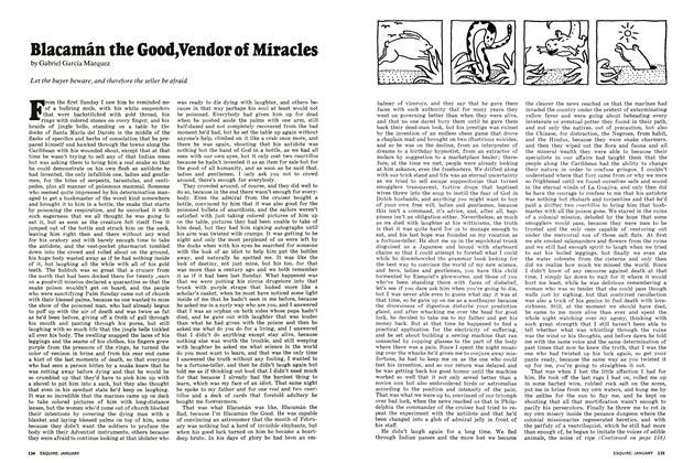 Blacamán the Good, Vendor of Miracles