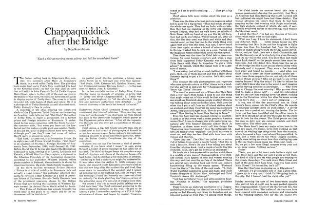 Chappaquiddick After the Bridge