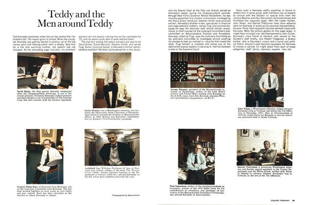 Article Preview: Teddy and the Men Around Teddy, FEBRUARY 1972 1972 | Esquire