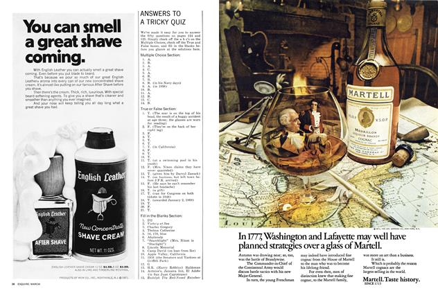 Article Preview: A Tricky Quiz, MARCH 1972 1972 | Esquire