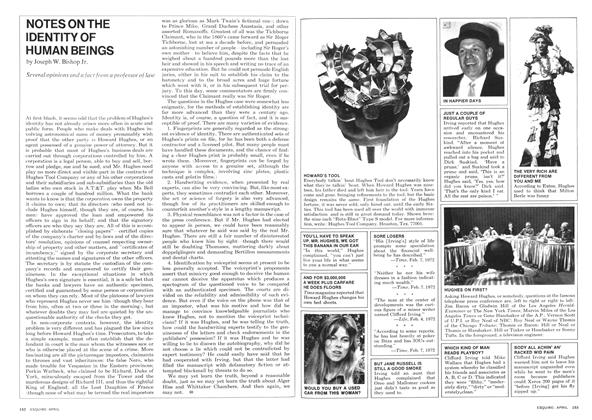 Article Preview: Notes on the Identity of Human Beings, APRIL 1972 1972 | Esquire