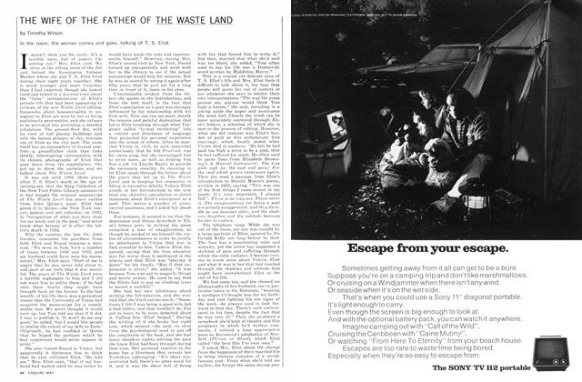 Article Preview: The Wife of the Father of the Waste Land, May 1972 | Esquire