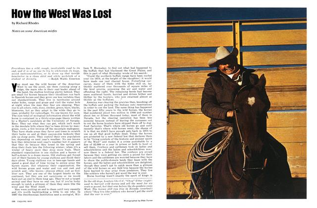 Article Preview: How the West Was Lost, May 1972 | Esquire