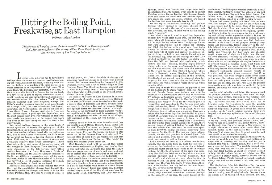 Hitting the Boiling Point, Freakwise, at East Hampton