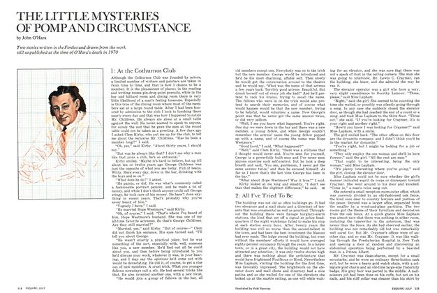 Article Preview: The Little Mysteries of Pomp and Circumstance, JULY 1972 1972 | Esquire